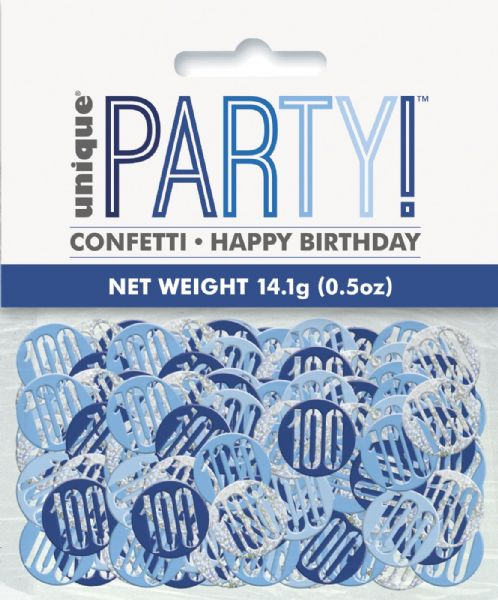 Glitz Blue Age 100 Table Confetti